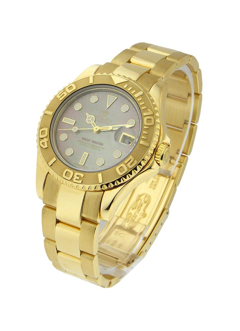 Rolex Used Yachtmaster Mid Size Yellow Gold 16862