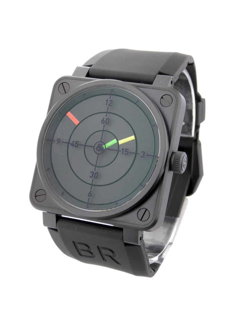 Bell & Ross BR01-92 Instrument Radar in Black Carbon Steel