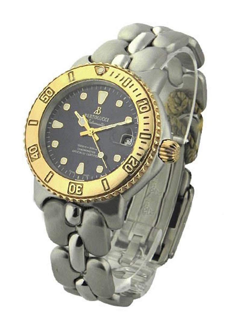 Bertolucci Diver 2 Tone in Steel with Yellow Gold Bezel