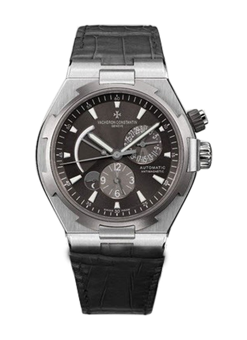 Vacheron Constantin Overseas Dual Time Power reserve in Steel with Titanium Bezel