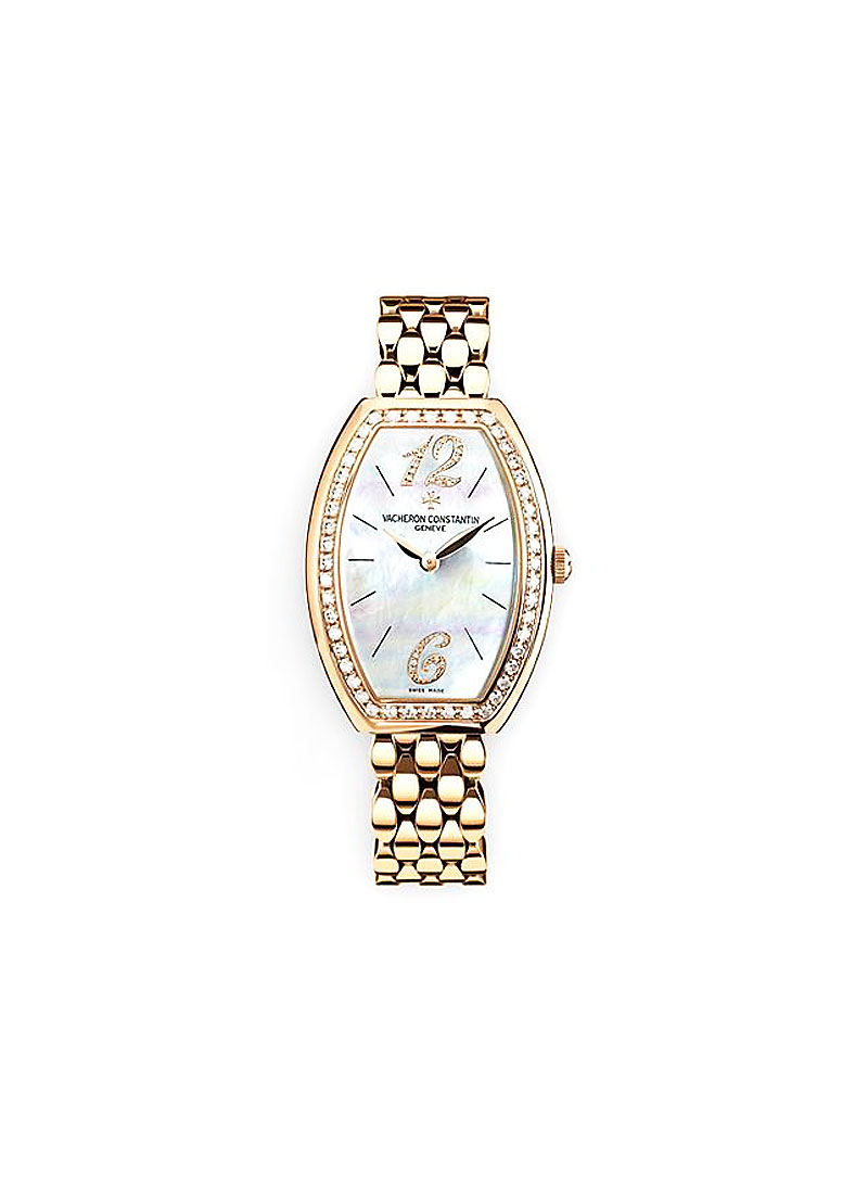 Vacheron Constantin Egerie Ladies Timepieces in Rose Gold with Diamond Bezel