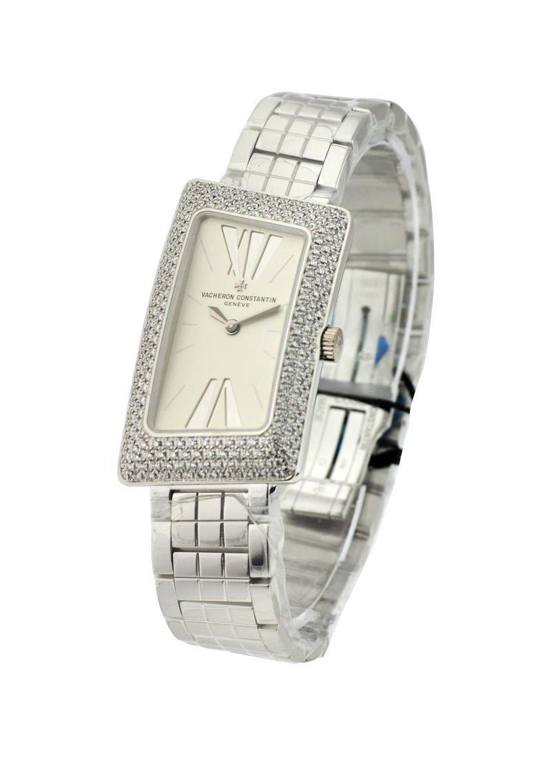 Vacheron Constantin 1972 Cambree Ladys in White Gold with Diamond Bezel