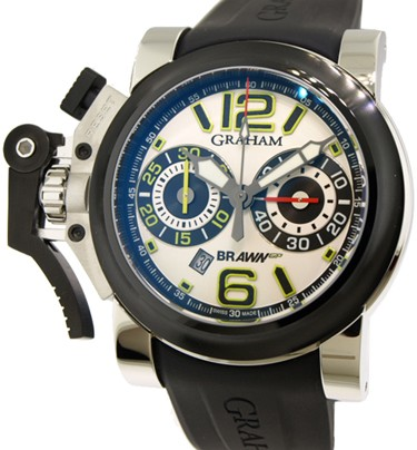 Graham Brawn GP Chronofighter Oversize in Steel with PVD Bezel