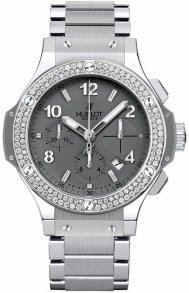 Hublot Big Bang Earl Grey 41mm in Steel with Diamond Bezel
