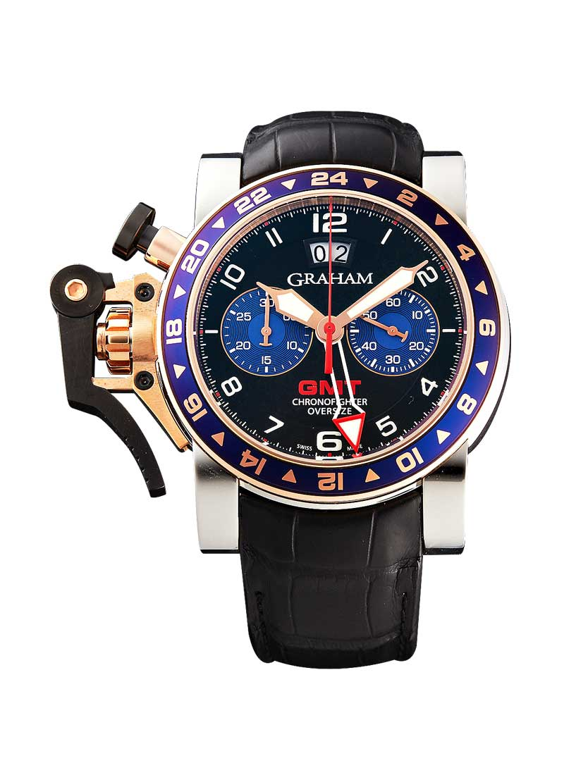 Graham Chronofighter Oversize GMT in 2-Tone Rose Gold and SS