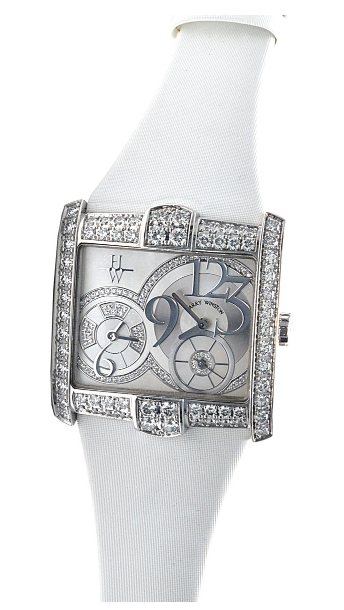 Harry Winston Avenue B in White Gold with Diamond Bezel