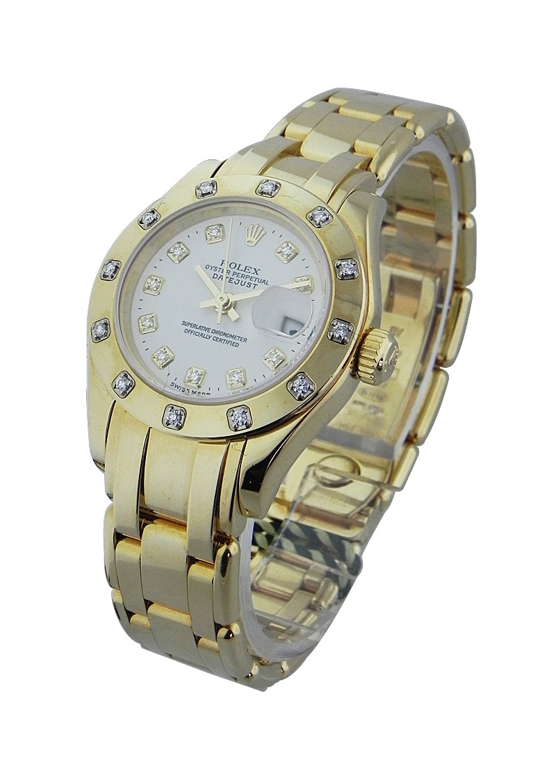 Rolex Used Lady''s YG Masterpiece with 12 Diamond Bezel