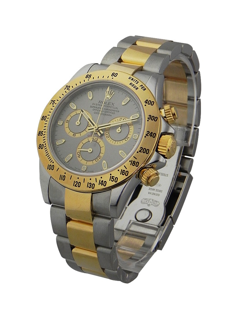 Rolex Used Daytona 2 Tone with Rhodoum Dial