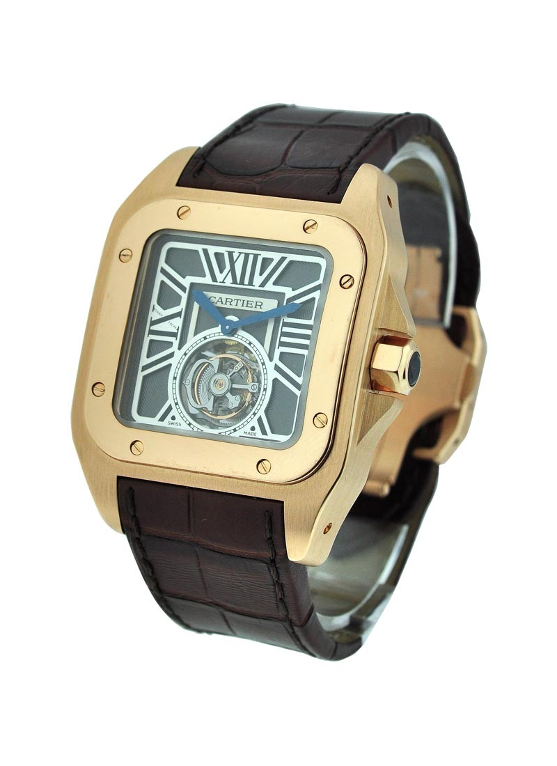 Cartier Santos 100 Flying Tourbillon XL in Rose Gold