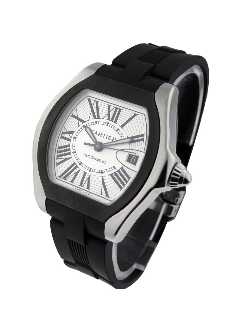 Cartier Roadster S with Rubber Strap and Bezel