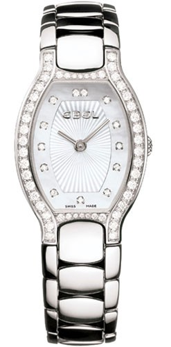 Ebel Beluga Tonneau in Steel with Diamond Bezel