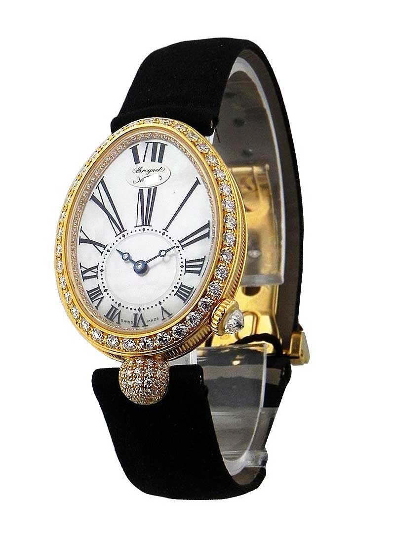 Breguet Queen of Naples - in Yellow Gold with Diamond Bezel