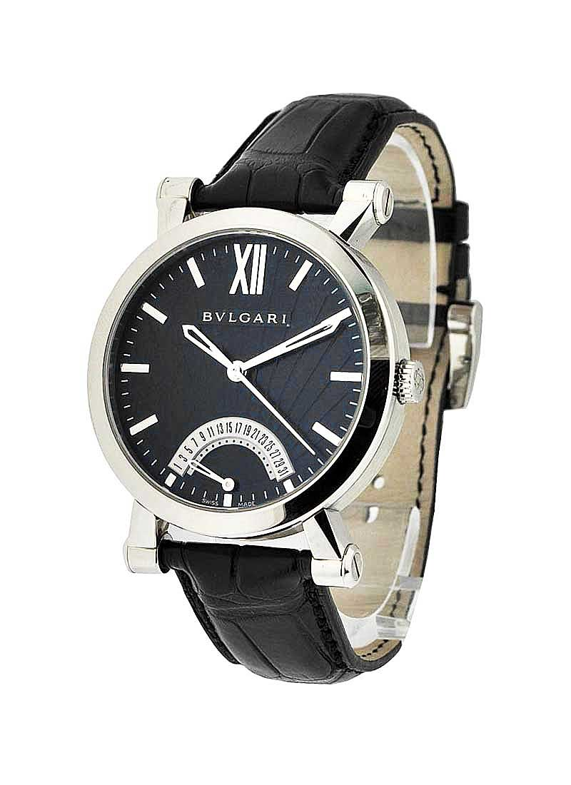 Bvlgari SOTIRIO Series Retrograde Date in Steel