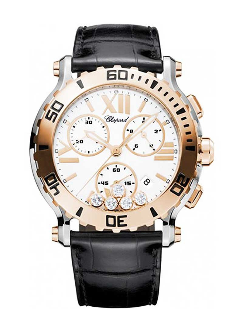 Chopard Happy Sport 2-Tone 5 Floating Diamonds