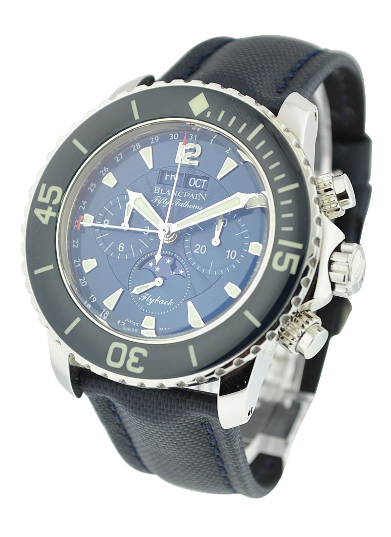 Blancpain Fifty Fathoms Complete Calendar with Chronograph 45mm Automatic in Steel