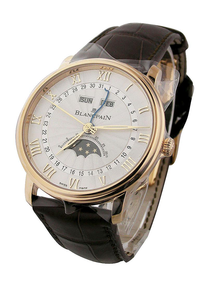 Blancpain Villeret Moon Phase Complete Calendar in Rose Gold