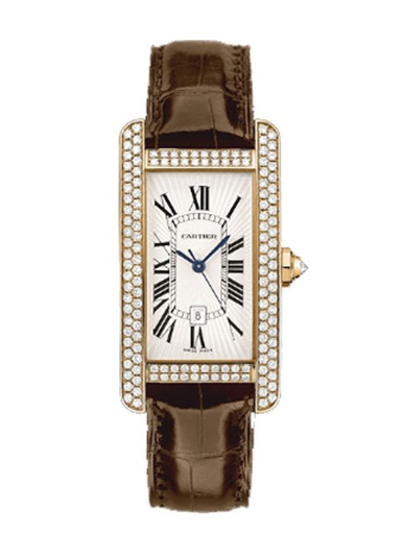 Cartier Tank Americaine Rose Gold with Diamond Case