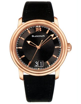 Blancpain Leman Ultra-Slim Big Date 40mm in Rose Gold