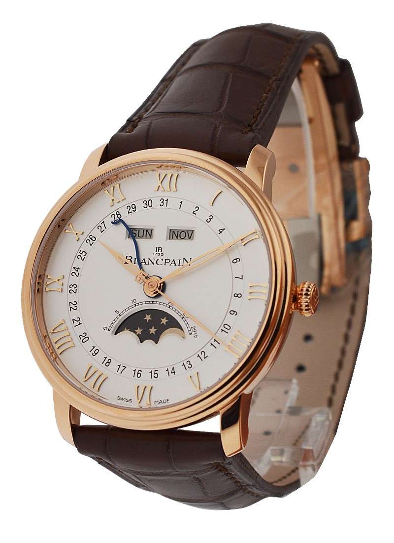 Blancpain Villeret Moon Phase and Complete Calendar in Rose Gold