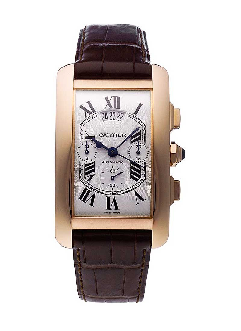 Cartier Tank Americaine Chronograph in Rose Gold
