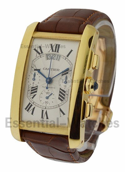 Cartier Tank Americaine XL Chronograph in Yellow Gold