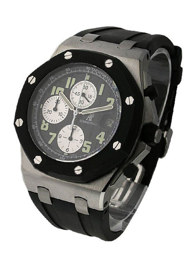 Audemars Piguet Royal Oak Offshore Rubber Clad Chronograph in Steel with Rubber Bezel