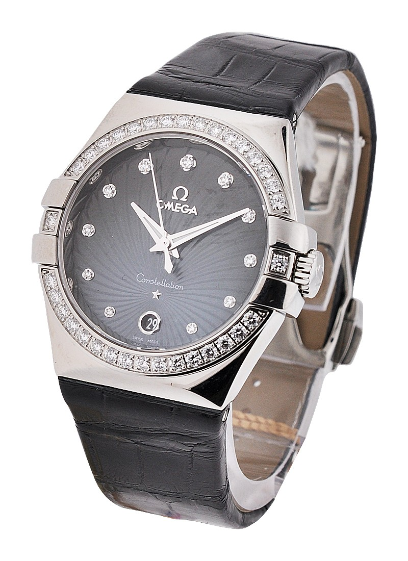 Omega Constellation 35mm Quartz in Steel with Diamond Bezel