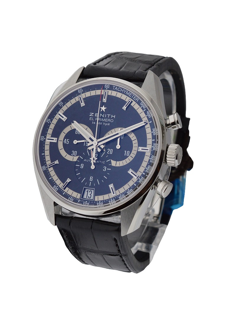 Zenith 36'000 VPH Mens Chronograph in Steel