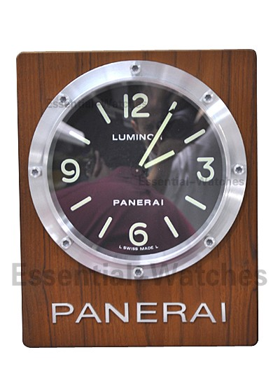 Panerai PAM 255 - Specialty Edition Panerai Wall Clock in Wood Mounting