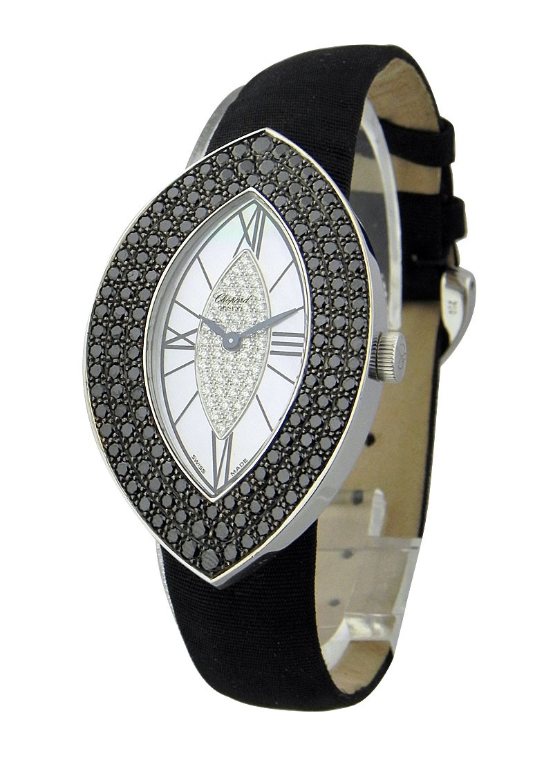 Chopard Classique Femme Cat's Eye in White Gold-Black Diamonds bezel