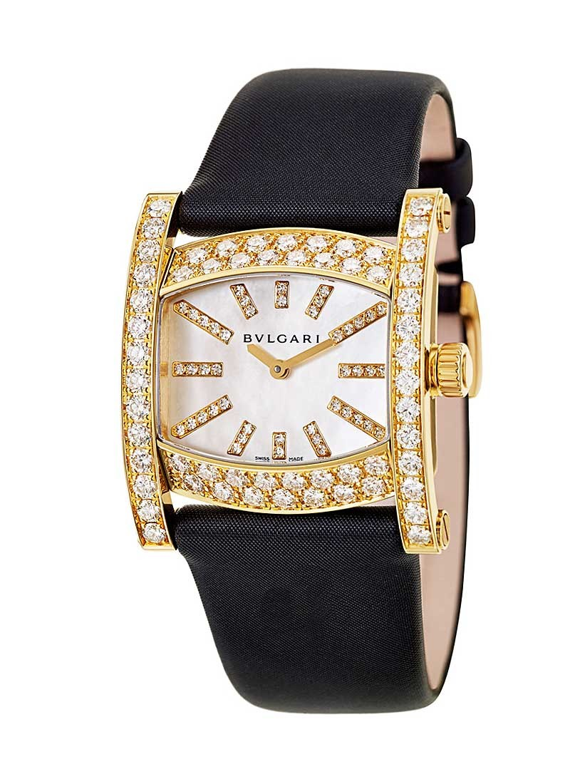 Bvlgari Assioma Lady's in Yellow Gold with Diamond Bezel