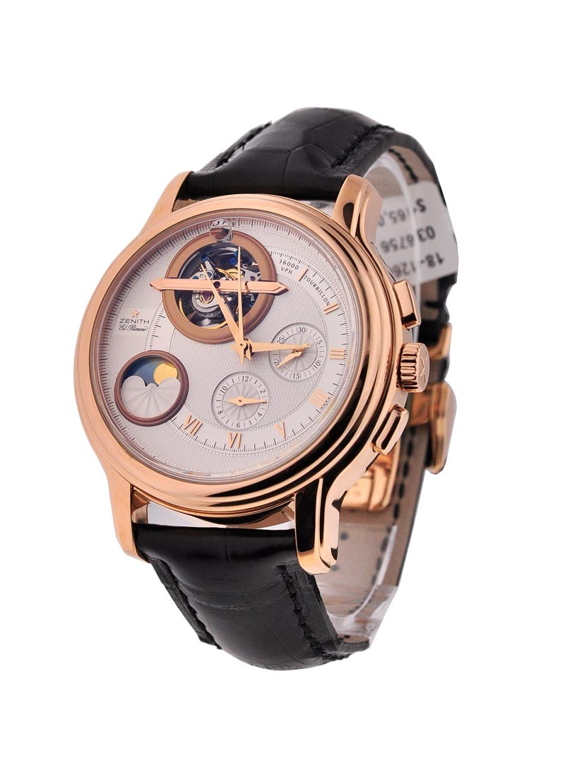 Zenith Grande Chronomaster Gold Tourbillon Moonphase in Rose Gold