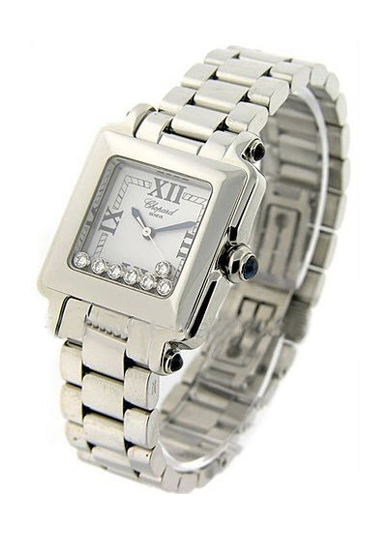 Chopard  Happy Sport Square in Steel   Large Size