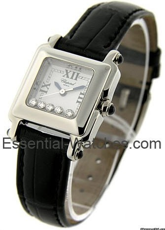 Chopard Happy Sport Square   Small Size  in Steel