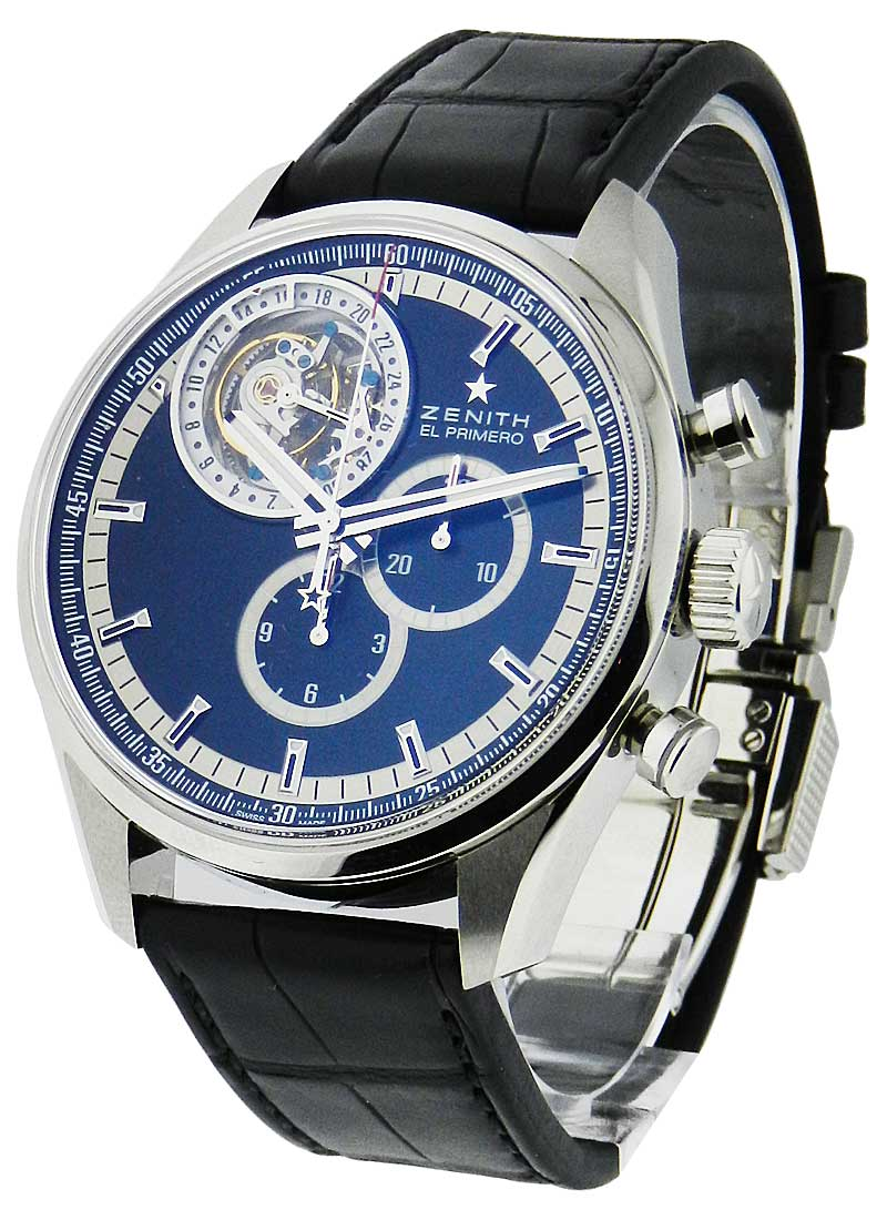 Zenith Class Tourbillon Chronograph in Steel - Limited Edition