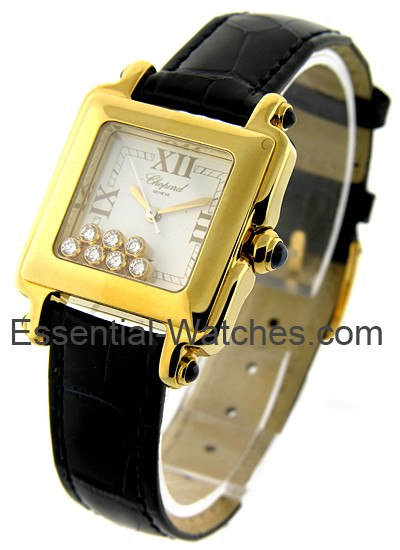 2eb0ed96d921e 27/6677-23 Chopard Happy Sport Square Yellow Gold | Essential Watches