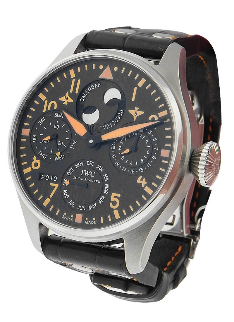 IWC Big Pilot Perpetual Calendar Orange in Steel - Limited to 250 Pieces