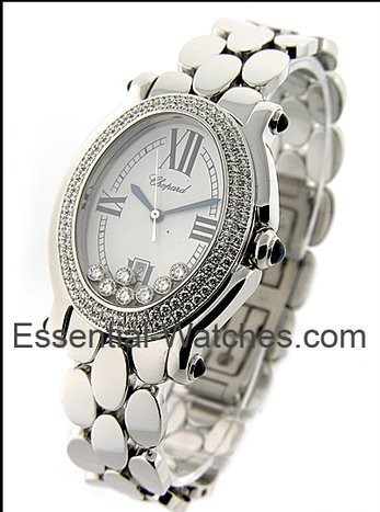 Chopard  Happy Sport Oval with 2 Row Diamond Bezel