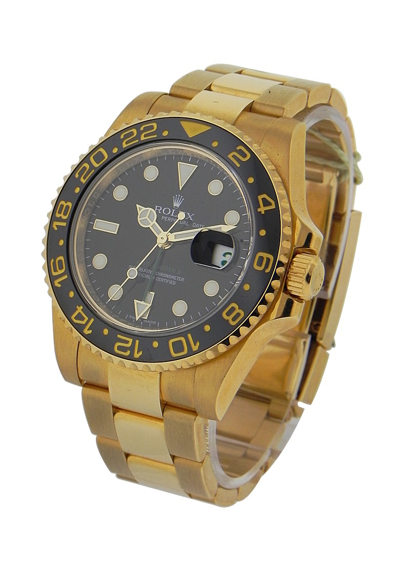 Rolex Used GMT Master II in Yellow Gold   Green Hand