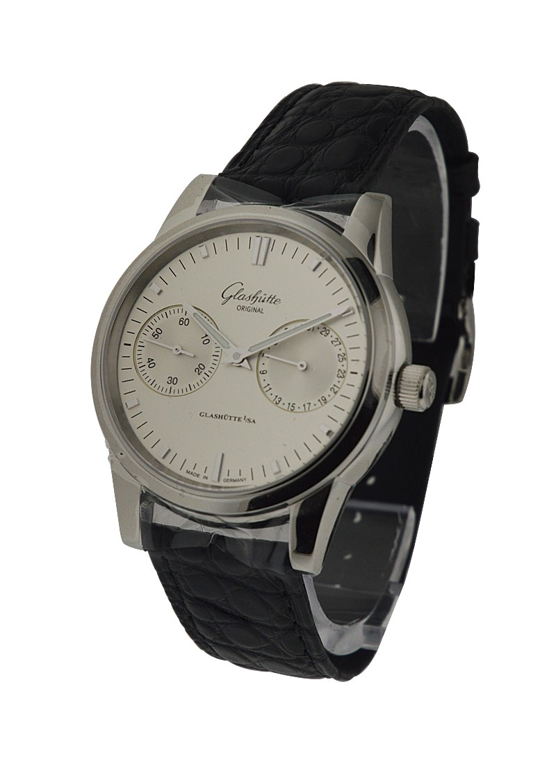 Glashutte Senator Automatic Hand Date in Steel