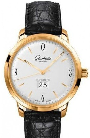 Glashutte Senator Sixties PanoRama Date 42mm Automatic in Rose Gold