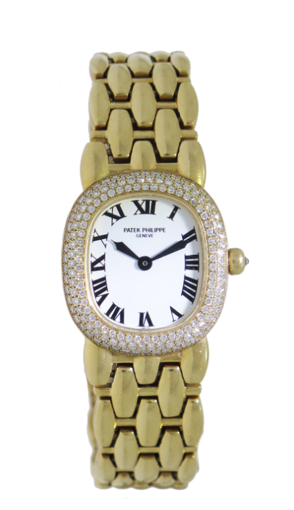 Patek Philippe Ellipse Lady's in Yellow Gold with Diamond Bezel