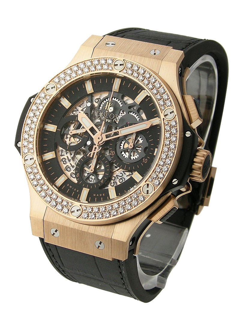 Hublot Aero Bang   Skeleton Chronograph with Diamond Bezel