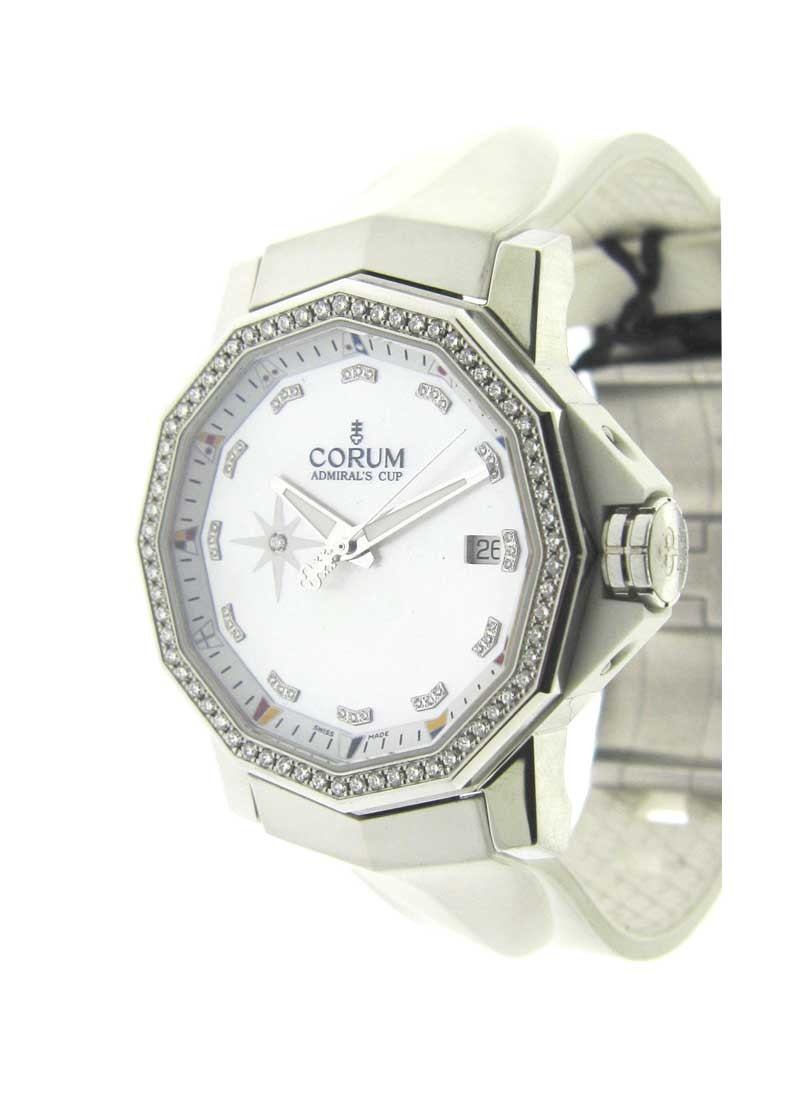 Corum Admirals Cup 40mm Automatic in Steel with Diamond Bezel