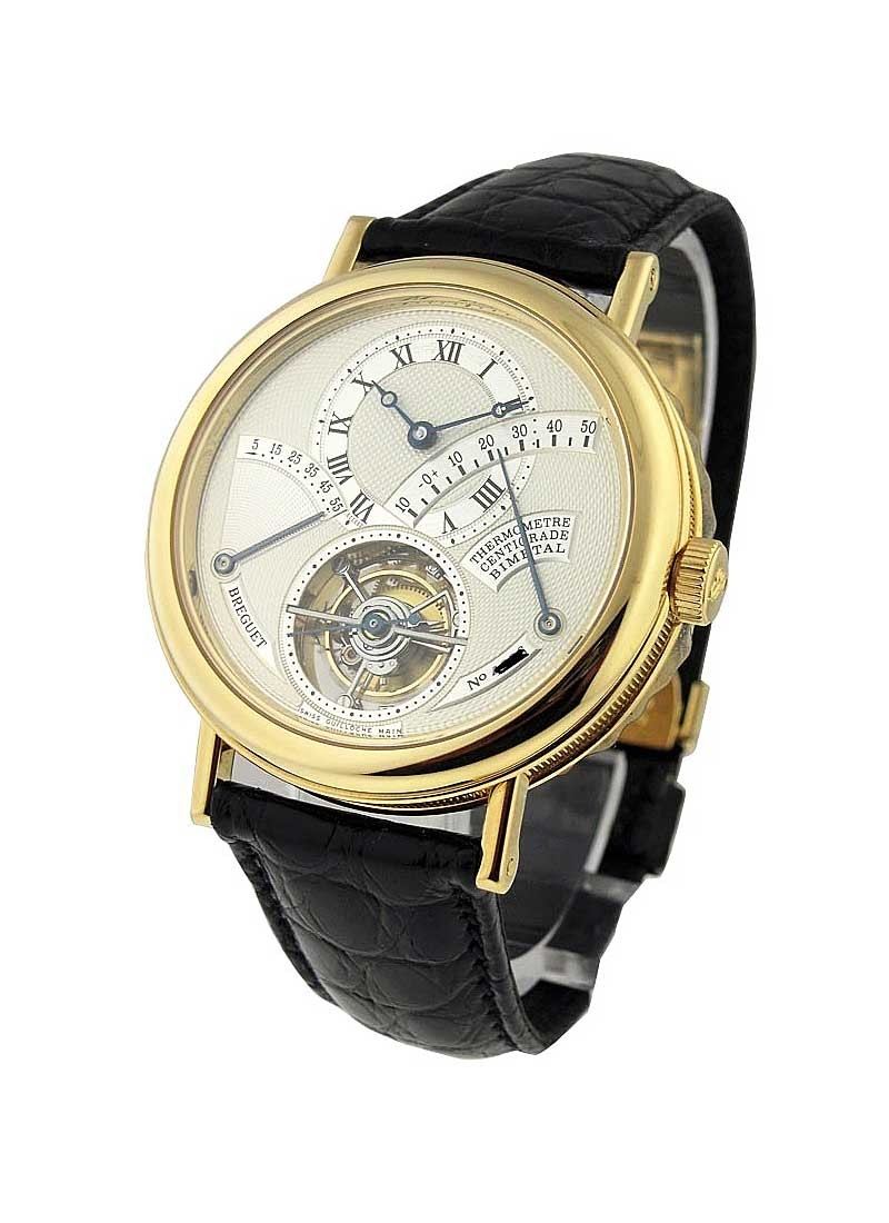 Breguet Tourbillion Power Reserve & Thermometer in Yellow Gold