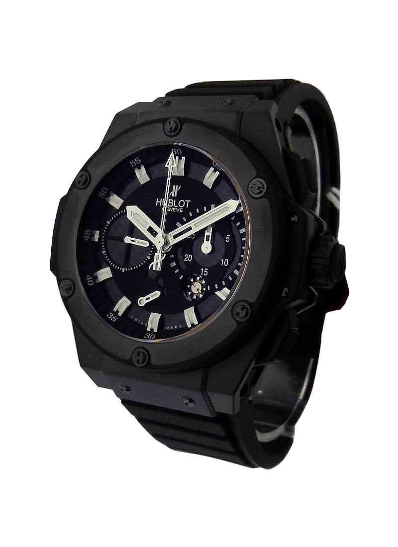 Hublot King Power Split Second Power Reserve in Black Ceramic