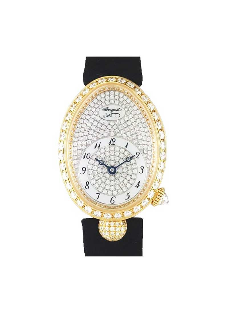 Breguet Reine de Naples in Yellow Gold with Diamond Bezel