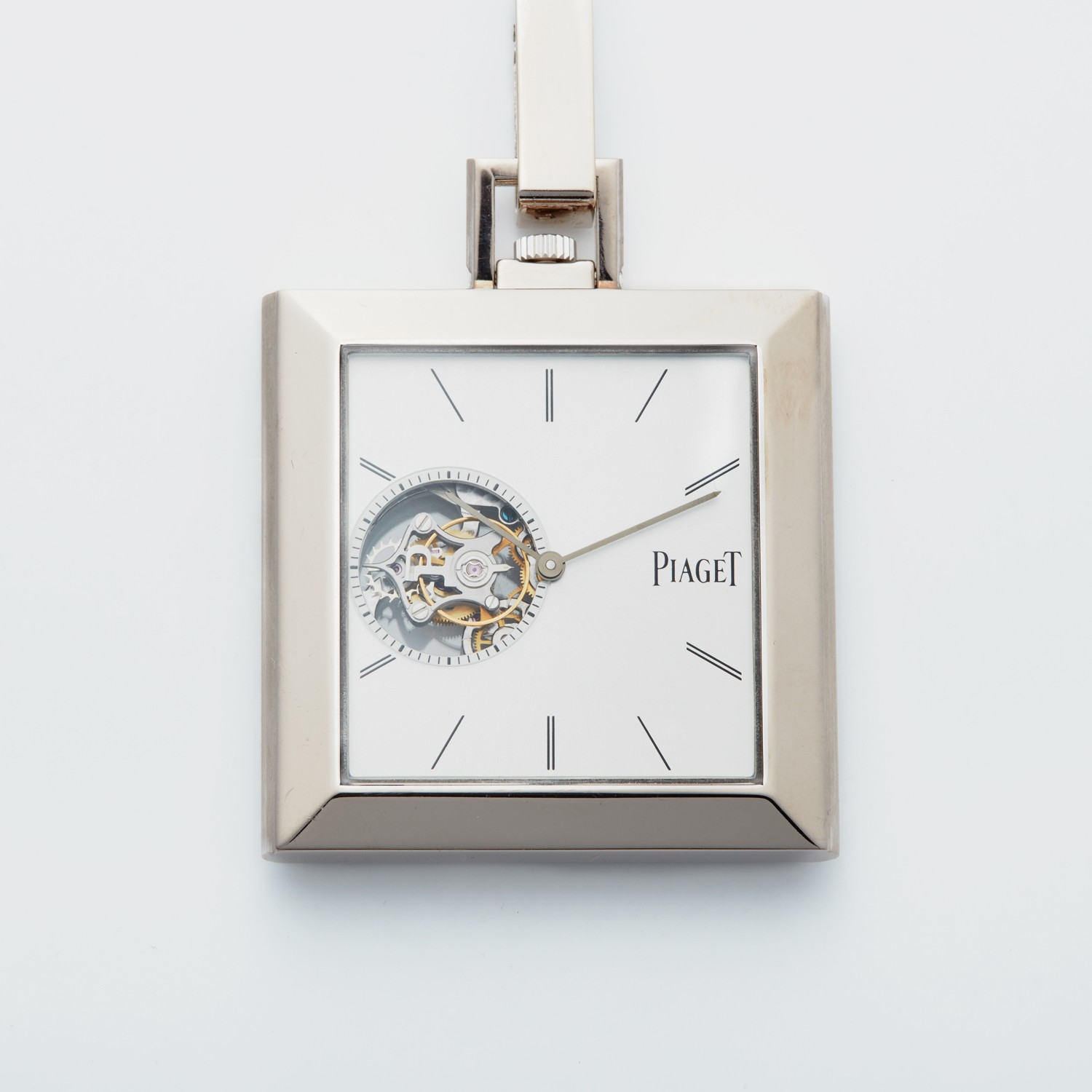 Piaget Altipano Tourbillion Pocket Watch in White gold