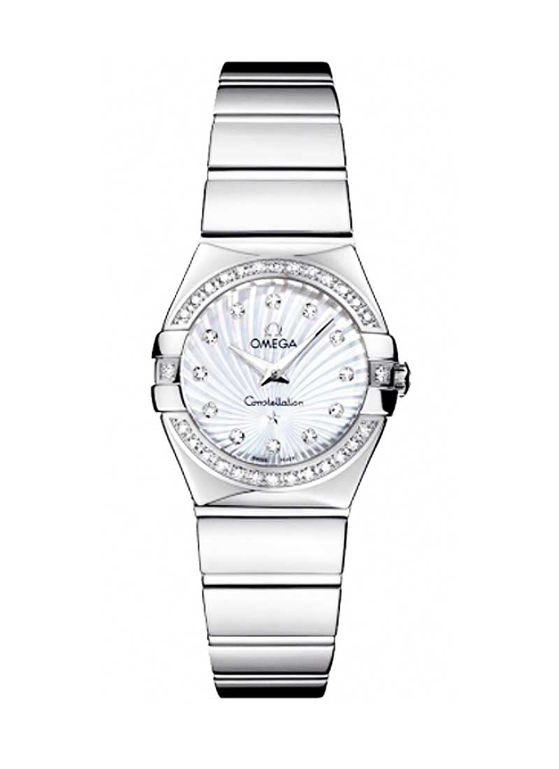 Omega Constellation '09 Polished Quartz - Diamond Bezel