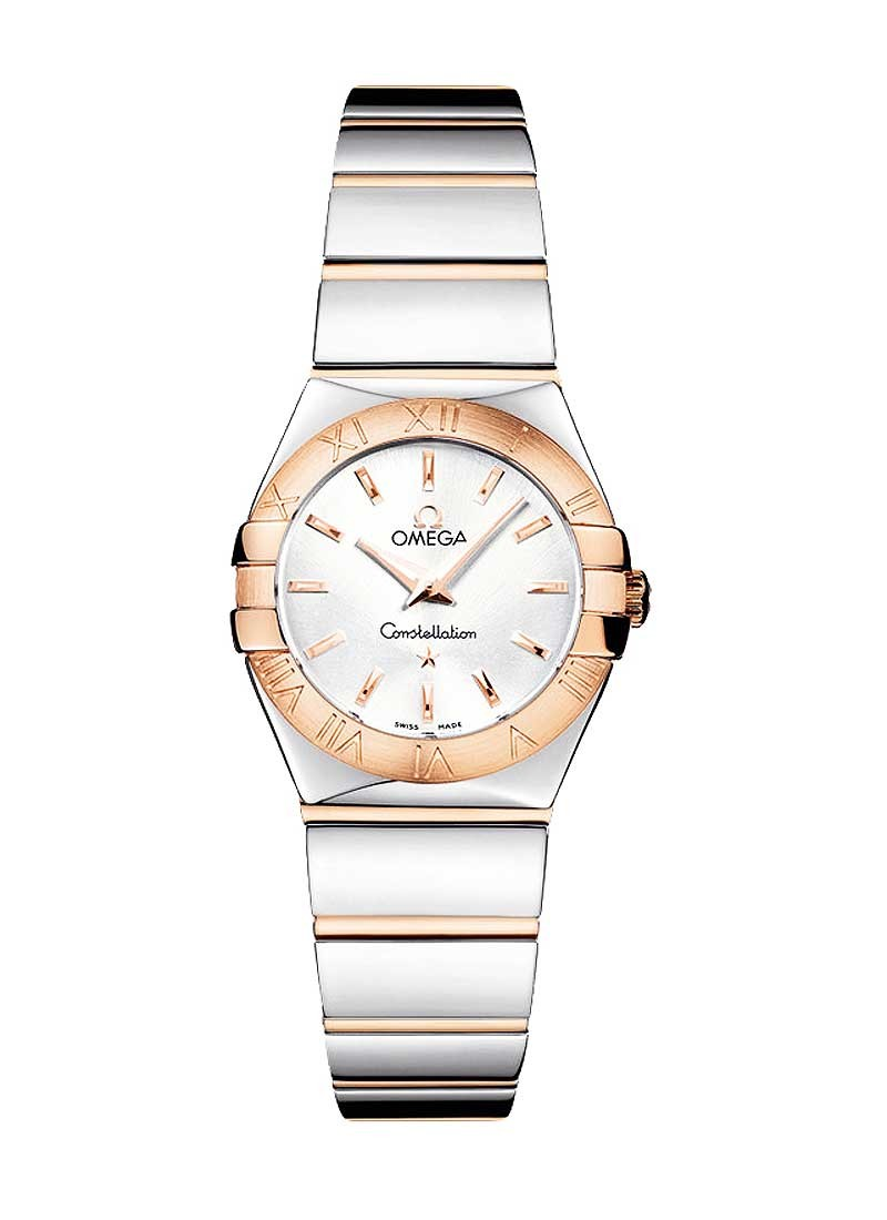 Omega Constellation '09 Polished Two-Tone in Steel with Rose Gold Bezel